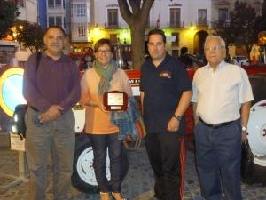 Con la alcaldesa de Caspe