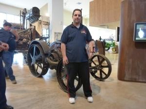 Nacho Llorente en el Museo-Ejea